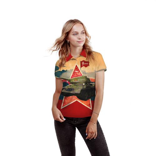 Женская рубашка поло 3D  Фото 03, На Берлин