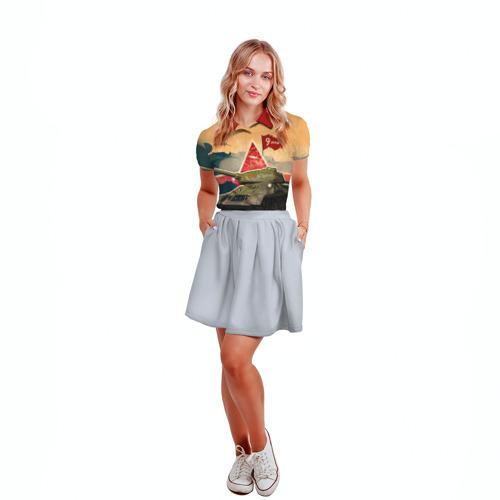 Женская рубашка поло 3D  Фото 04, На Берлин