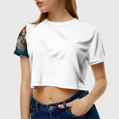 Женская футболка 3D укороченная  Фото 01, На Берлин