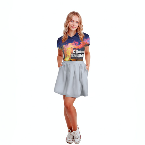 Женская рубашка поло 3D  Фото 04, День победы