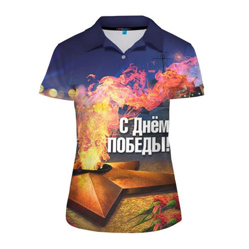 Женская рубашка поло 3D  Фото 01, День победы