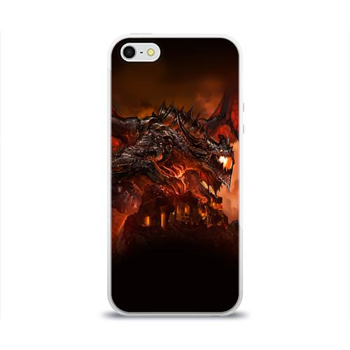 Чехол для Apple iPhone 5/5S силиконовый глянцевый Варкрафт 7 Фото 01