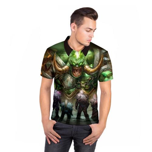 Мужская рубашка поло 3D  Фото 05, Варкрафт 17