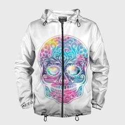 Цветной череп с узорами