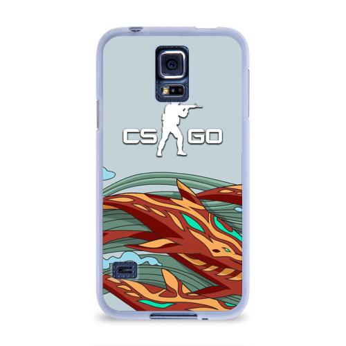 Чехол для Samsung Galaxy S5 силиконовый  Фото 01, Aquamarine Revenge cs go