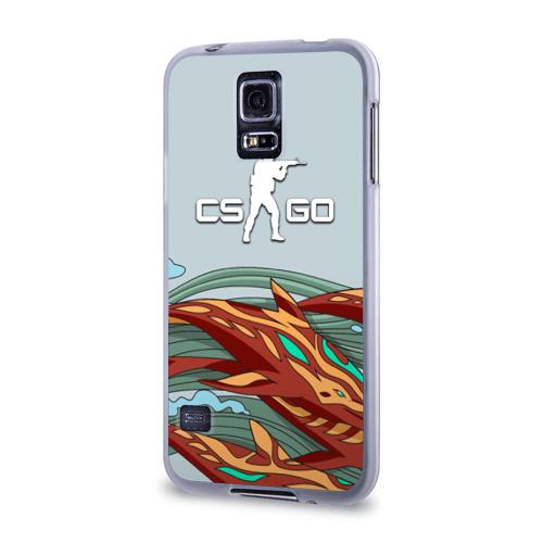 Чехол для Samsung Galaxy S5 силиконовый  Фото 03, Aquamarine Revenge cs go