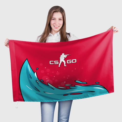 Флаг 3D  Фото 01, Water Elemental cs go