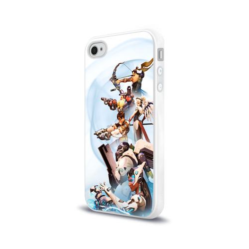 Чехол для Apple iPhone 4/4S силиконовый глянцевый  Фото 03, Overwatch