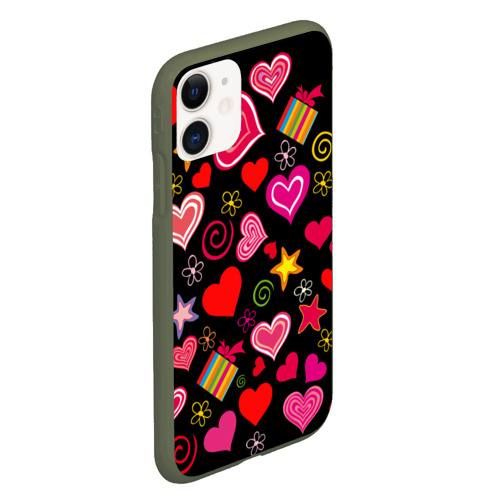 Чехол для iPhone 11 матовый Любовь Фото 01