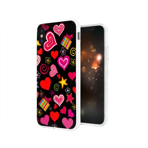 Чехол для Apple iPhone X силиконовый глянцевый  Фото 03, Любовь
