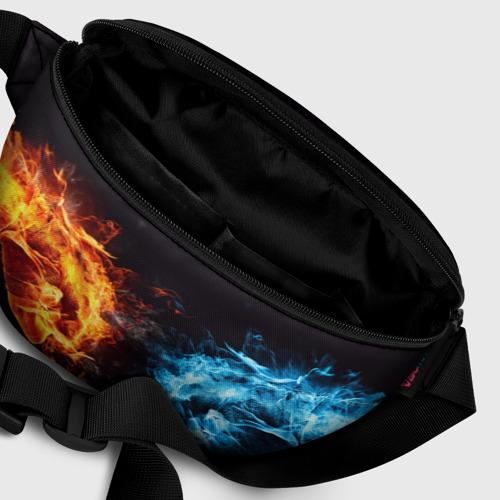 Поясная сумка 3D Лёд и пламя Фото 01