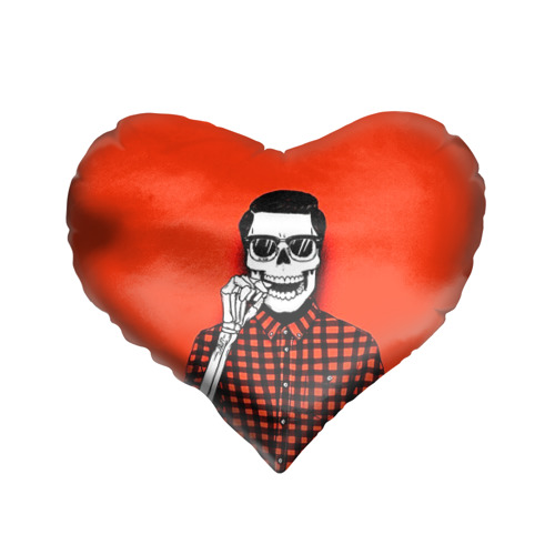 Подушка 3D сердце  Фото 01, Скелет хипстер