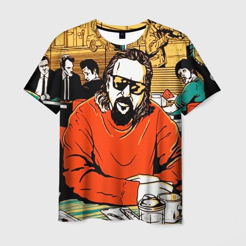 Мужская футболка 3D Большой Лебовски