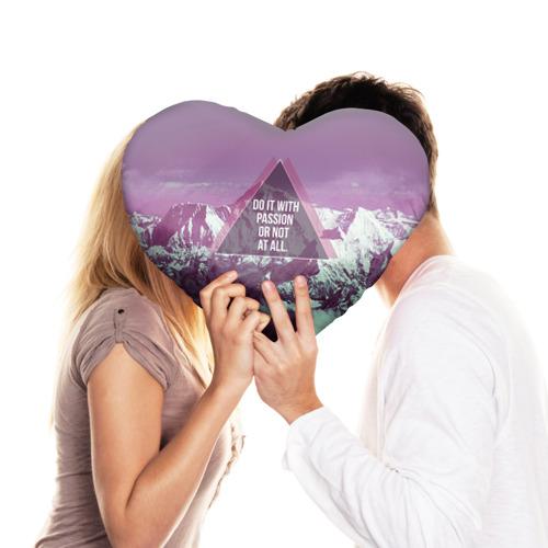 Подушка 3D сердце  Фото 03, Горы