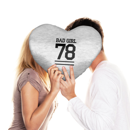 Подушка 3D сердце  Фото 03, Bad girl
