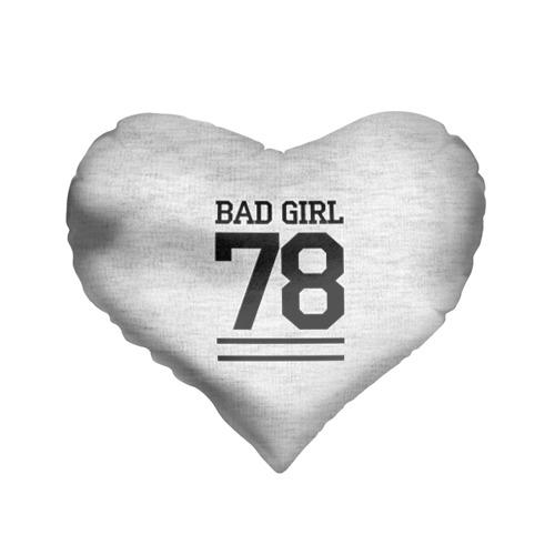 Подушка 3D сердце  Фото 01, Bad girl