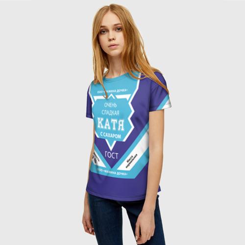 Женская футболка 3D Сладкая Катя Фото 01