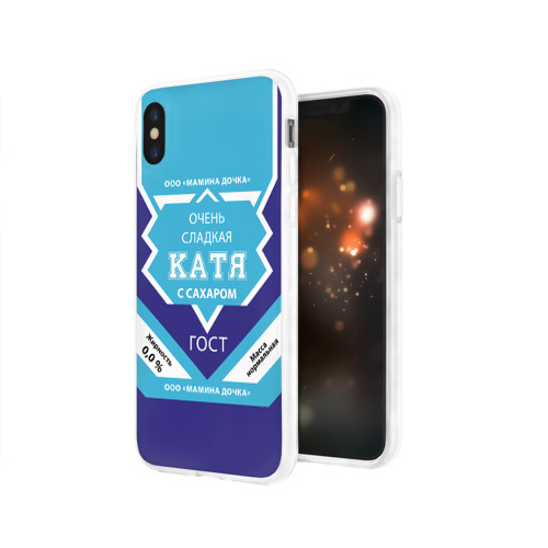 Чехол для Apple iPhone X силиконовый глянцевый  Фото 03, Сладкая Катя
