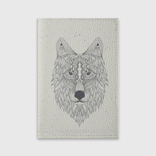 Обложка для паспорта матовая кожа  Фото 01, Волк-шаман