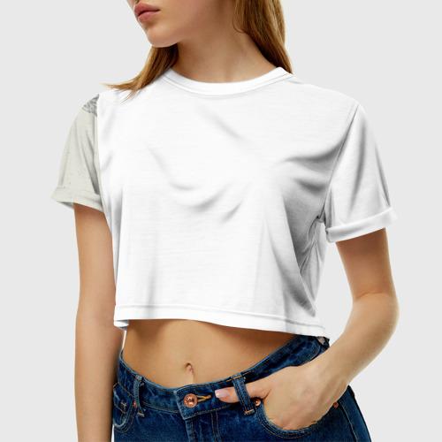 Женская футболка 3D укороченная  Фото 01, Волк-шаман