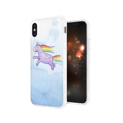 Чехол для Apple iPhone X силиконовый глянцевый  Фото 03, Единорожка