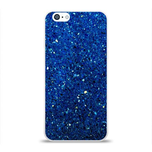 Чехол для Apple iPhone 6 силиконовый глянцевый  Фото 01, Blue mirror