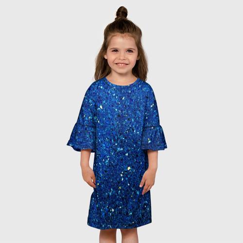 Детское платье 3D Blue mirror Фото 01