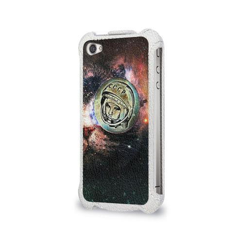 Чехол для Apple iPhone 4/4S flip  Фото 03, Гагарин 3