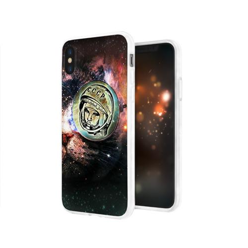 Чехол для Apple iPhone X силиконовый глянцевый  Фото 03, Гагарин 3
