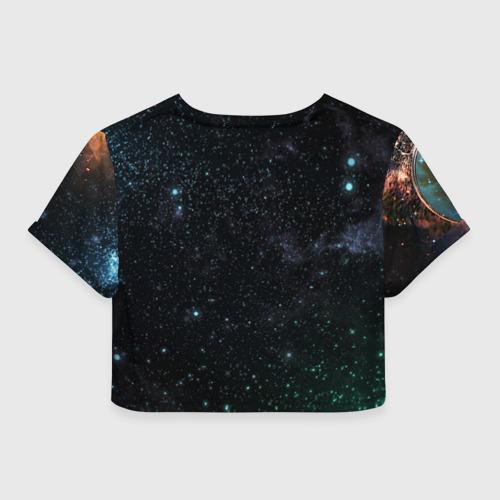 Женская футболка 3D укороченная  Фото 02, Гагарин 3