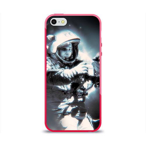 Чехол для Apple iPhone 5/5S силиконовый глянцевый  Фото 01, Гагарин 5