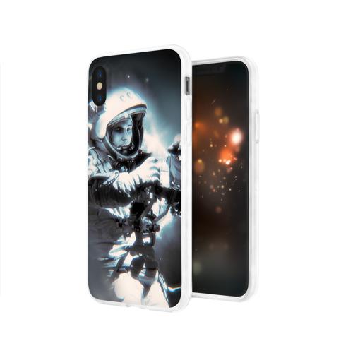 Чехол для Apple iPhone X силиконовый глянцевый  Фото 03, Гагарин 5