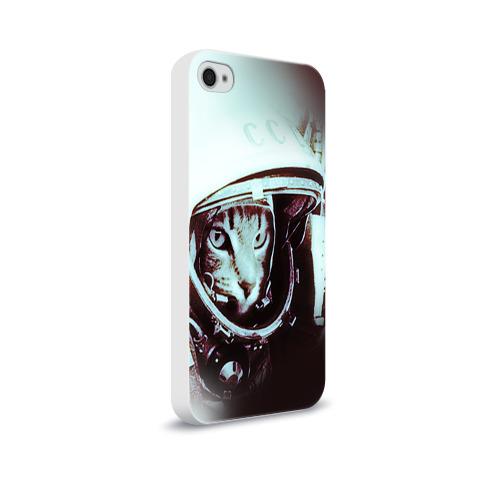 Чехол для Apple iPhone 4/4S soft-touch  Фото 02, Котмонавт