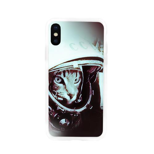 Чехол для Apple iPhone X силиконовый глянцевый  Фото 01, Котмонавт