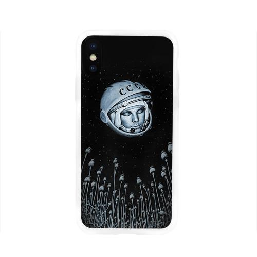 Чехол для Apple iPhone X силиконовый глянцевый  Фото 01, Гагарин 7