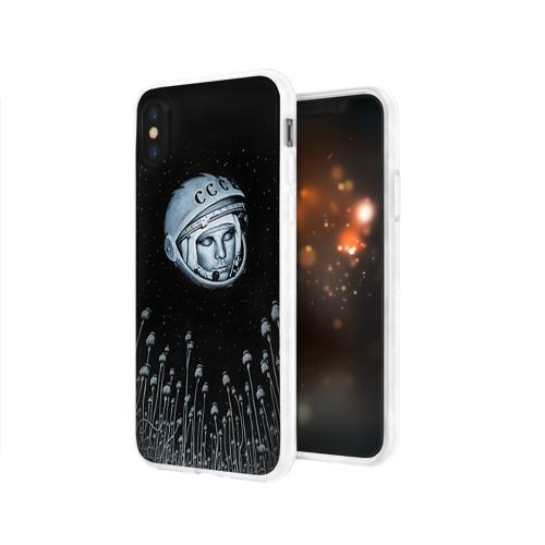 Чехол для Apple iPhone X силиконовый глянцевый  Фото 03, Гагарин 7