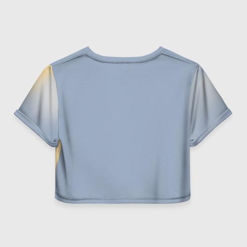Женская футболка 3D укороченная  Фото 02, Гагарин 8