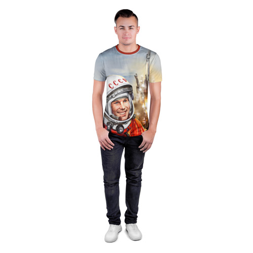 Мужская футболка 3D спортивная Гагарин 8 Фото 01