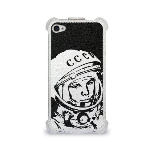 Чехол для Apple iPhone 4/4S flip  Фото 01, Гагарин 9