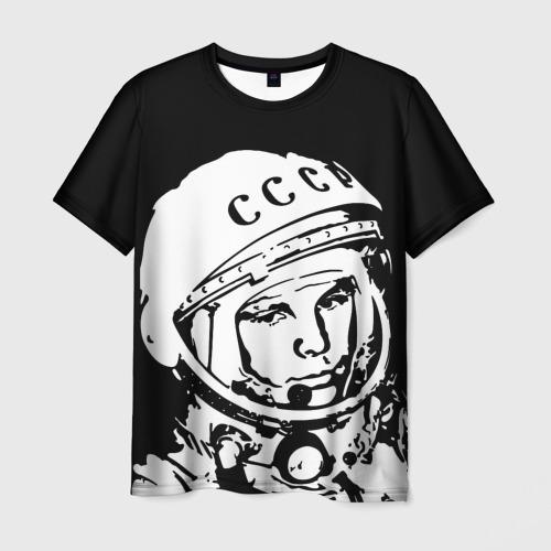 Мужская футболка 3D Гагарин 9