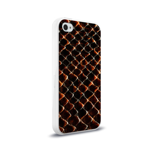 Чехол для Apple iPhone 4/4S силиконовый глянцевый  Фото 02, Змеиная кожа