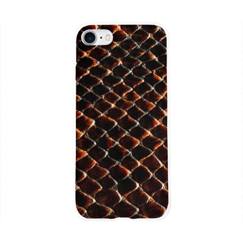 Чехол для Apple iPhone 8 силиконовый глянцевый  Фото 01, Змеиная кожа