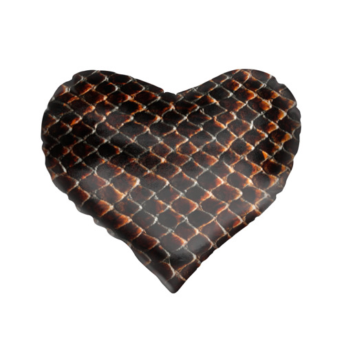 Подушка 3D сердце  Фото 01, Змеиная кожа