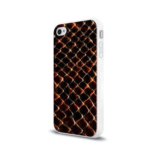 Чехол для Apple iPhone 4/4S силиконовый глянцевый  Фото 03, Змеиная кожа