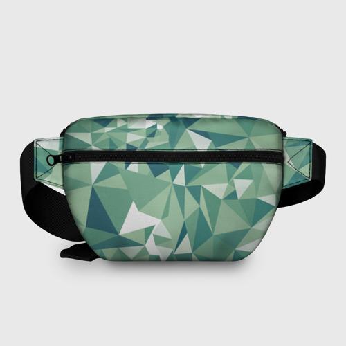 Поясная сумка 3D Зеленые полигоны Фото 01