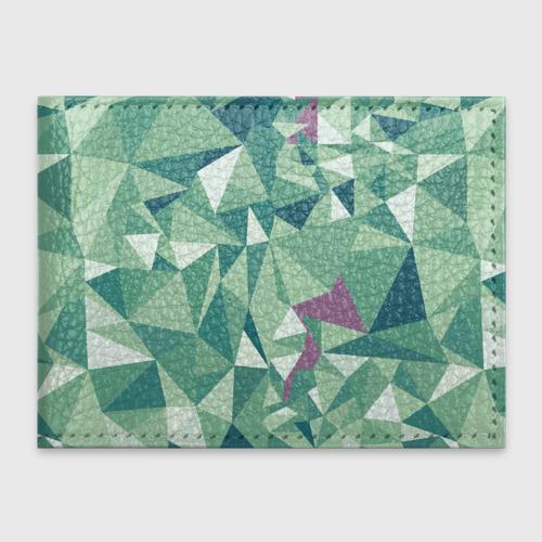 Обложка для студенческого билета Зеленые полигоны Фото 01