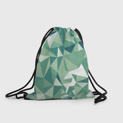 Рюкзак-мешок 3D Зеленые полигоны Фото 01