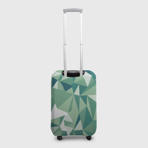 Чехол для чемодана 3D Зеленые полигоны Фото 01
