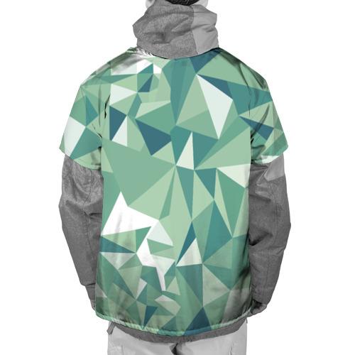 Накидка на куртку 3D Зеленые полигоны Фото 01