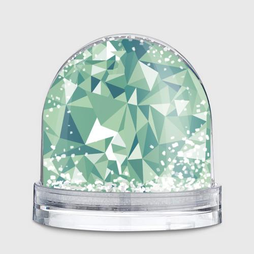 Снежный шар Зеленые полигоны Фото 01